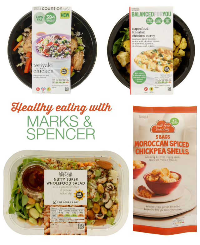 healthy eating with marks and spencer