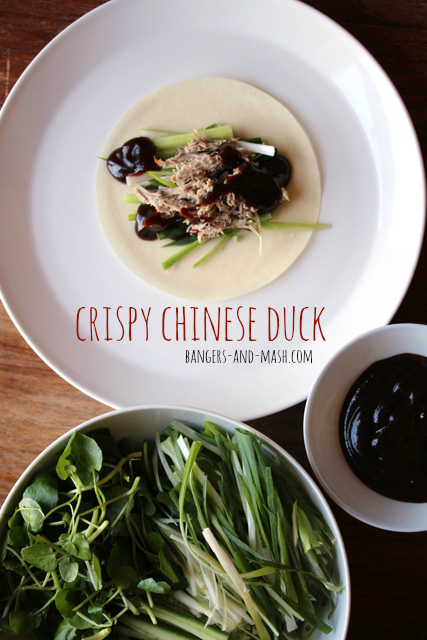 Crispy Chinese Duck With Pancakes Bangers Mash