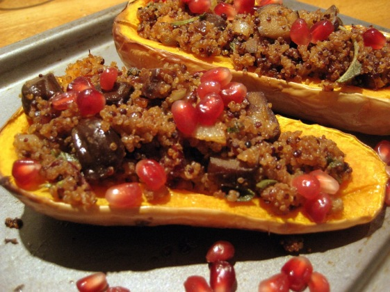 14. Chestnut & Quinoa Stuffed Butternut Squash