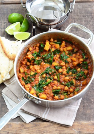 16. Chickpea & Spinach Curry