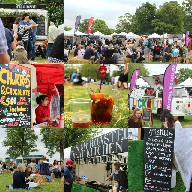 Blenheim Palace Food Festival Collage