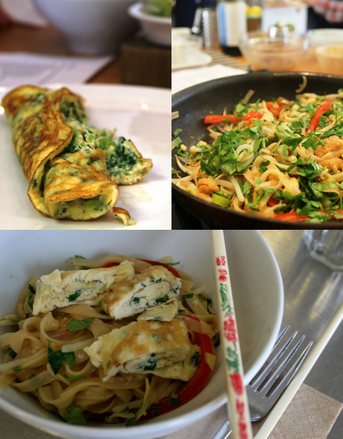 Pad Thai Collage