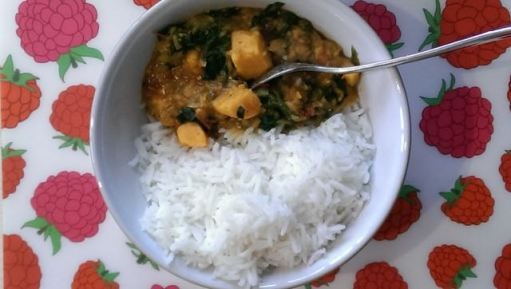 8. Red Lentil, Sweet Potato & Spinach Dhal