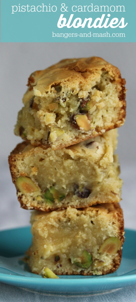 Blondies cardamom pistachio
