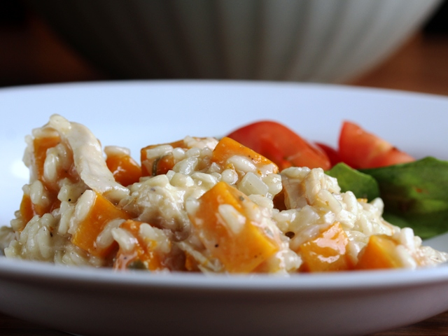 chicken and butternut squash risotto