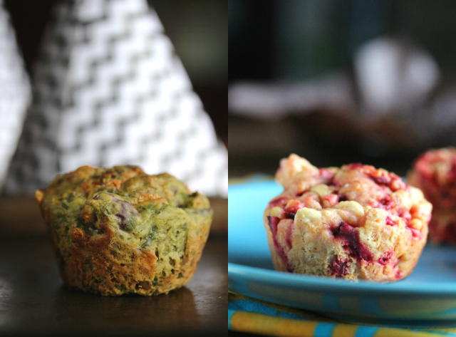 Healthy Halloween Muffins Collage