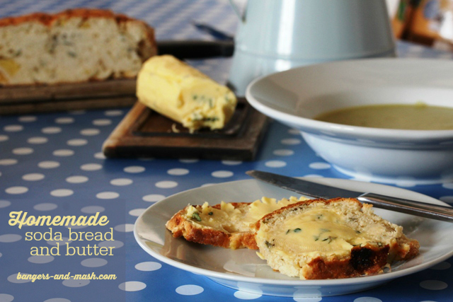 homemade soda bread and butter