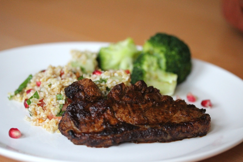 mexican adobo lamb steak