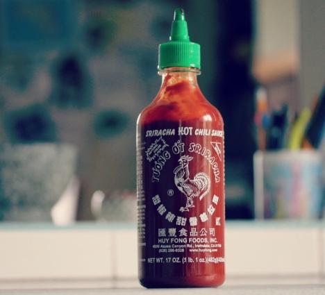 2. Sriracha hot sauce