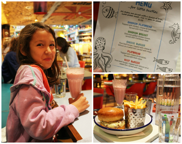 Turtle Bay Kids Meal Collage