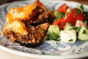 moussaka and greek salad 2 - web